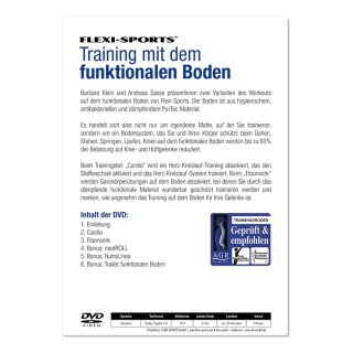 Functional Training Doppelmatte grau inkl. DVD